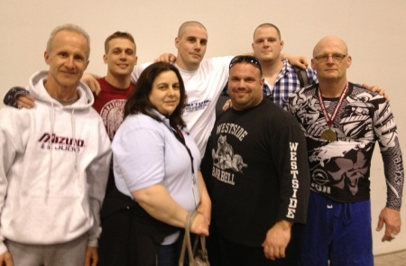 Chu to Bu/BRASA Team 1st row Coach Tom Skaugen, Coach Lorey Edwards, Mark Burrows 100+ brown belt,  Paul Jordan, -90  M5 National Champ Row 2 Eric Schmidt -81 brown belt, Kyle Shepard Bronze Medal 100+ brown belt & Corey Shepard 100+ black bel