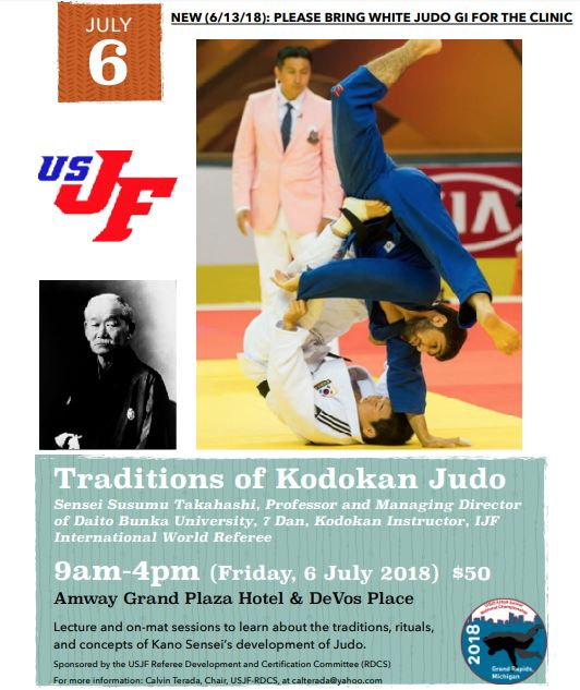 Special Clinic – Traditions of the Kodokan- July 6, Grand